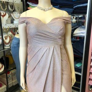 Off Shoulder Straps Formal Long Dress